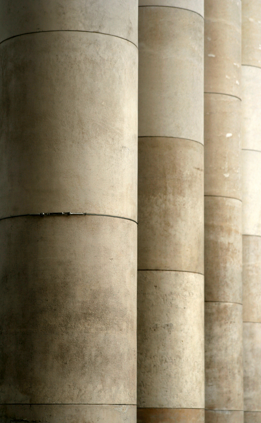 stone pillars at the palais de tokyo in paris, france
